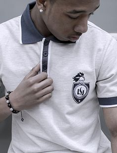Labsolja Mens Light Grey Polo shirt by Labsolja | Wears London - London Born Fashion