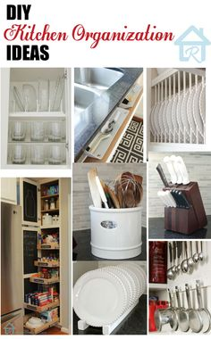 DIY - Small Kitchen Organizing Ideas - Tips, Ideas and Tutorials