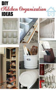 Great ways to an organized kitchen.