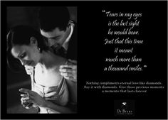 DeBeers. Romantic prose to trigger the heartstrings. Feels manufactured to me.