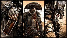 《Call of Juarez Gunslinger》插画设计|矢量绘画|绘画艺术 - 设计佳作欣赏 - 站酷 (ZCOOL)