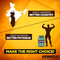#Choices are important but making the right one, even more so! Choose #BigMusclesNutrition.