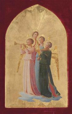 Artworks of Fra Angelico (Italian, 1387 - from galleries, museums and auction houses worldwide. A Christmas Story, Christmas Art, Angel Guide, Fra Angelico, Angel Sculpture, Renaissance Paintings, Medieval, Guardian Angels, Angel Art