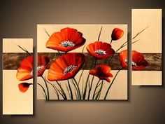 Discover recipes, home ideas, style inspiration and other ideas to try. Acrylic Artwork, Abstract Canvas Art, Canvas Wall Art, Multiple Canvas Paintings, Wallpaper Nature Flowers, Red Flowers, Diy Art, Sculpture Art, Flower Art