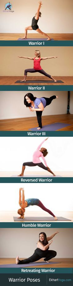 A look at the 5 main variations of Warrior Pose / Virabhadrasana plus Retreating Warrior found in Yang Yoga sequences