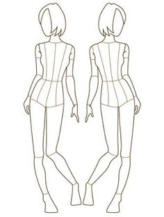 Fashion Designer Templates Pleasing V72 Front View Female Croquis  Female Figure Various Forms .