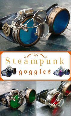 Victorian Steampunk goggles aviator victorian welding biker eye cup NNT #ad #halloween2017 #halloweencostumes #steampunk steampunk halloween costumes | steampunk halloween costumes women | steampunk halloween costumes diy | steampunk halloween costumes fo