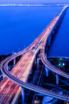 Sky Gate Bridge, Road to Kansai International Airport, Osaka, Japan