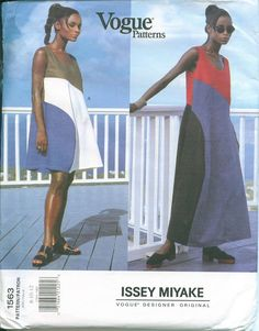 OOP Vogue 1563 Issey Miyake Sewing Pattern Dress by OhSewCharming
