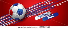 Football ,tournament, Soccer, cup, Design Background Template, Vector Illustration,2018