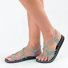 Amazon.com | Flat Summer Sandals for Women by Plaka | Flats