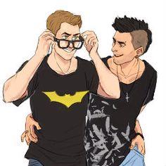Nerd!Dean. Punk!Cas