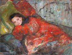 Charmy, Emilie (French, 1878-1974) - Young Girl Reclining - 1897.