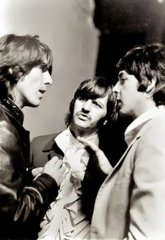 1968 - George Harrison, Ringo Starr and Paul McCartney, Mad Day Out, 28th July.