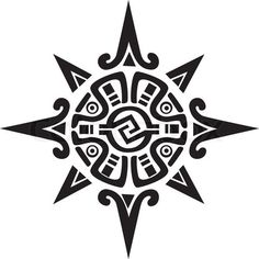 Vector of 'Mayan or Incan symbol of a sun or star' on Colourbox