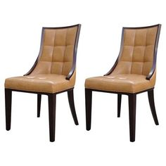 Barrel Parsons Chair in Camel (Set of 2) at Joss & Main