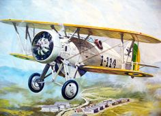 Boeing P-12, Brazilian Air Force Museum jigsaw puzzle in Puzzle of the Day puzzles on TheJigsawPuzzles.com