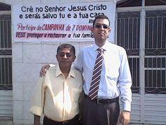 Meu grande amigo Pastor José Paulo, líder da Igreja Pentecostal Ide e Anunciai.