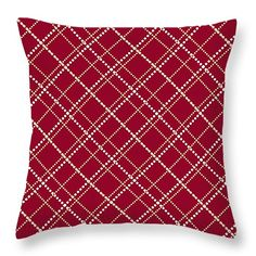 """Burgundy Pattern 14"""" x 14"""" Throw Pillow by Christina Rollo.  Our throw pillows are made from 100% cotton fabric and add a stylish statement to any room.  Pillows are available in sizes from 14"""" x 14"""" up to 26"""" x 26"""".  Each pillow is printed on both sides (same image) and includes a concealed zipper and removable insert (if selected) for easy cleaning."""