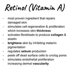 Mar 2020 - Retinol is a powerhouse ingredient of value for many skin conditions: hyperpigmentation, fine lines, uneven skin tone, firmness, oily skin… Vitamin A, Oily Skin Care, Face Skin Care, Uneven Skin Tone, Skin Tips, Skin Secrets, Acne Skin, Skin Brightening, Skin Treatments