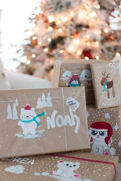 handpainted gift wrap craftberrybush-2