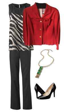 """""""GO-TO TROUSER and Beau Jacket"""" by trudy-kern on Polyvore featuring CAbi and Nine West"""