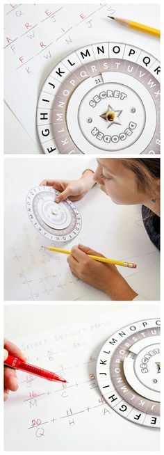 Printable Secret Decoder Wheel - activity for secret spy party theme