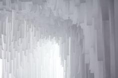 Layered of luminous material. COS x Snarkitecture.image ©futurecrafter