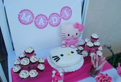 I spell my Madi's name that way, too!  Must be a sign!  ;o)  She loves HK!  Hello Kitty party