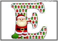 Wall Christmas Tree, Christmas Alphabet, Christmas Background, Christmas Themes, Christmas Ornaments, Cute Alphabet, Birthday Letters, Christmas Scrapbook, Diy And Crafts