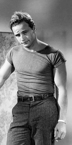 Marlon Brando. Wardrobe test for A Streetcar Named Desire in August 1950