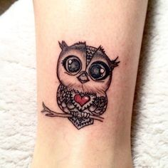 cute & little owl tattoo © Holy INK Tattoos Baby Owl Tattoos, Cute Owl Tattoo, Owl Tattoo Small, Small Girl Tattoos, Small Tattoo Designs, Dainty Tattoos, Dope Tattoos, Mini Tattoos, Body Art Tattoos