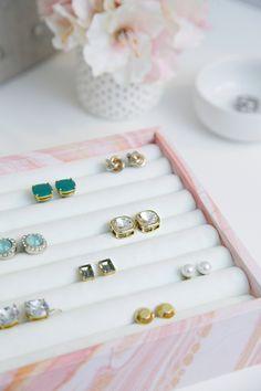 IHeart Organizing: DIY Ring & Earring Jewelry Organizer