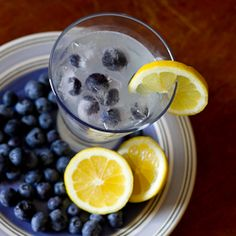 Lemonade with Blueberry Vodka...I could use this now..It's been that kind of day!