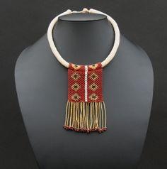 African Zulu Beaded Love Letter Tassel Choker Necklace - Handmade