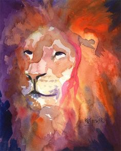 Hey, I found this really awesome Etsy listing at https://www.etsy.com/listing/27350677/lion-art-print-of-original-watercolor