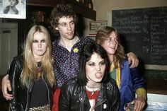 Bob Geldof + Runaways Joan Jett, Lita Ford, Sandy West, London 1979