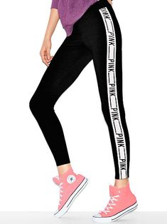 Victoria's Secret PINK logo leggings I'm in love Size: small Victoria Secret Outfits, Victoria Secret Rosa, Victoria Secrets, Legging Outfits, Leggings Fashion, Pink Leggings, Pink Pants, Pink Outfits, Teen Fashion