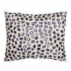 Andrea Gemstone Pillow - silver