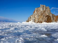 This is Lake Baikal. The lake is remarkable for more than just its remote Siberian location: It is believed to be both the oldest freshwater lake on the planet, at more than 25 million years of age, and the deepest, at 5,250 feet (1,600 meters). For some perspective, the average depth of open ocean is 14,000 feet (4,267 meters) -- so this is a freshwater lake as deep as the black waters of the ocean's bathypelagic zone, the realm of giant squid and their adversaries the sperm whales.