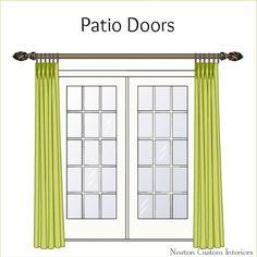 Patio Doors From NewtonCustomInteriors.com #draperies #windowtreatments