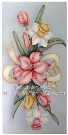 The Decorative Painting Store: Spring Floral Pattern - Kathleen Whiton - PDF… Tole Decorative Paintings, Tole Painting Patterns, Fabric Painting, Painting & Drawing, Painting Flowers, Donna Dewberry Painting, Painting Inspiration, Flower Art, Art Projects