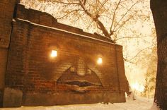 Russian Street artist Nikita Nomerz transforms derelict buildings http://www.mirror.co.uk/news/world-news/russian-street-artist-transforms-derelict-785027#.T4MWo-5KiLY.twitter
