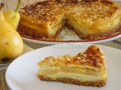 Torta de pera com gengibre e amêndoa