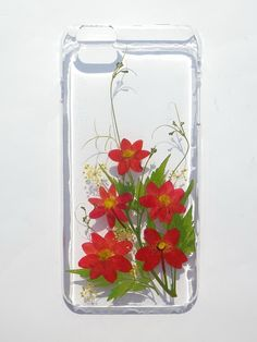 Pressed Flowers with Nature, Handmade iphone 6/6S PLUS phone case by Annys workshop, $18.00 USD