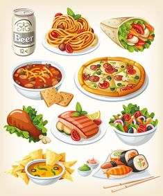 Vector tasty food images