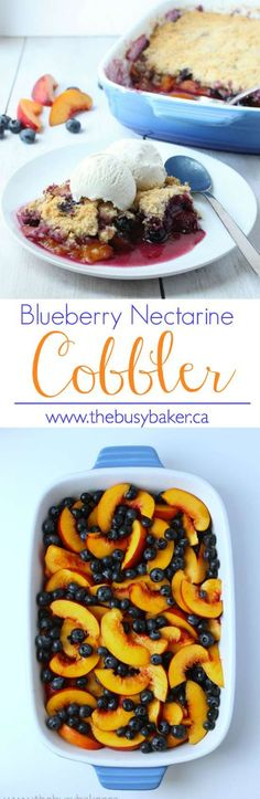 The Busy Baker: Blueberry Nectarine Cobbler switch out for gluten free topping Nectarine Dessert, Blueberry Recipes, Fruit Recipes, Dessert Recipes, Nectarine Recipes Gluten Free, Necterine Recipes, Candy Recipes, Vegetarian Recipes, Goodies