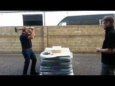 Polycarbonate, Acrylic, Polystyrene glazing sheet Break Testing for secondary glazing