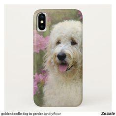 goldendoodle dog in garden Case-Mate iPhone case