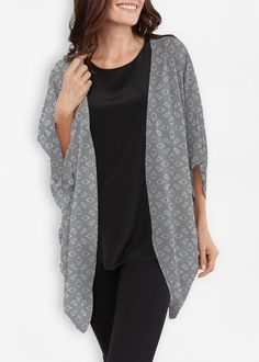 Vida Design, My Design, Summer Shades, Bold Stripes, Color Shapes, Shades Of Red, Kimono Top, Grey, Clothes